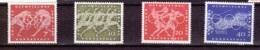 1960  Olympische Sommerspiele Rom (4 Werte), Deutsche Bundespost, Postfrisch - Sommer 1960: Rom