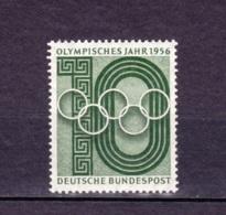 1956 Olympisches Jahr,  Deutsche Bundespost,  Postfrisch - Sommer 1956: Melbourne