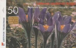 LITUANIA. CHIP. Pasque-Flower. LT-LTV-C043. (008). - Flores