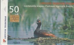 LITUANIA. CHIP. Duck Podiceps Nigricollis. LT-LTV-C047. (011). - Pájaros