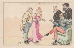 CPA Politique Caricature Satirique COMBES / FALLIERES / PELLETTAN Illustrateur A. DESMALES (2 Scans) - Personnages