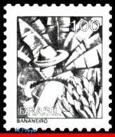 Ref. BR-1448-B BRAZIL 1979 JOBS, NATIONAL PROFESSIONS,1976, BANANA WORKER, PHOSPHORESCENT MNH 1V Sc# 1448 - Obst & Früchte