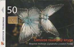 LITUANIA. CHIP. Butterfly Lysandra Coridon. LT-LTV-C051. (004). - Mariposas