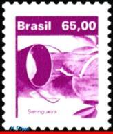Ref. BR-1934 BRAZIL 1984 FLOWERS, PLANTS, ECONOMIC RESOURCES,, RUBBER TREE, MNH 1V Sc# 1934 - Arbres