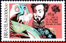 Ref. BR-1954 BRAZIL 1984 FAMOUS PEOPLE, 150TH ANNIV.OF DEATH DON, PEDRO I, KING, JOINT ISSUES PORTUGAL,MNH 1V Sc# 1954 - Königshäuser, Adel