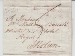 USED LETTER 28/10/1817 VERONA MILAN GRIFFE ROUGE - ...-1850 Préphilatélie