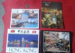LOTE DE 4 POSTALES GRAN TAMAÑO DE HONG KONG CHINA. NO ESCRITAS. CHINE POST CARD CARDS TARJETAS, CARTES POSTALES POSTAL.. - China (Hong Kong)
