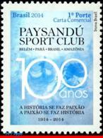 Ref. BR-3266 BRAZIL 2014 FOOTBALL SOCCER, CENTENARY THE PAYSANDU,, FAMOUS CLUBS, SPORT, MNH 1V Sc# 3266 - Brasilien