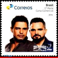 Ref. BR-V2016-28 BRAZIL 2016 FAMOUS PEOPLE, SINGERS, MUSICIANS, ZEZE, DI CARMARGO & LUCIANO, PERSONALIZED MNH 1V - Brésil
