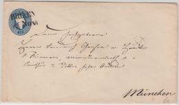 Österreich  - 15 Kr. Franz-Joseph Ganzsache Brief L2 Brixen - München1863 - Interi Postali
