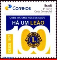 Ref. BR-V2017-24 BRAZIL 2017 LIONS, 100 YEARS OF LIONS, INTERNATIONAL, PERSONALIZED MNH 1V - Rotary, Lions Club