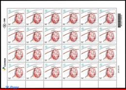 Ref. BR-V2019-14-F BRAZIL 2019 - ZODIAC SIGNS, LEO, 5TH, ISSUE, CONSTELLATION OF LEO, SHEET MNH, ASTROLOGY 24V - Astrologie