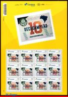 Ref. BR-V2019-50-F BRAZIL 2019 - FOOTBALL SOCCER, 10TH PALMEIRAS, CHAMPIONSHIP, FAMOUS CLUBS, SHEET MNH,12V - Blocks & Sheetlets