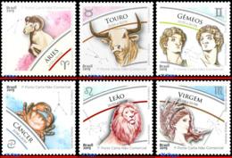 Ref. BR-V2019-SIGN BRAZIL 2019 ASTROLOGY, ZODIAC SIGNS, ARIES, TAURUS GEMINI CANCER LEO, SET MNH 3V - Astrologie