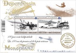 Blok 207 Deperdussin - Monoplane MNH - De Eerste Luchtpostvlucht 4333/34** Les 100 Ans Du 1er Vol De La Poste Aérienne - Unused Stamps
