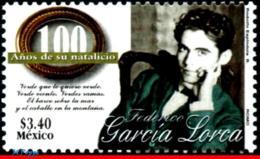 Ref. MX-2078 MEXICO 1998 FAMOUS PEOPLE, FEDERICO GARCIA LORCA,, POET, WHITER, MI# 2699, MNH 1V Sc# 2078 - Schriftsteller