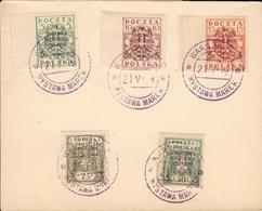 Poland Michel Nr. 118-122 B Cover From 1919 Polen Go96 - ....-1919 Gouvernement Provisoire