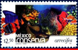 Ref. MX-2365 MEXICO 2004 NATURE, CONSERVATION, REEFS,, FISH, (2.50P) MNH 1V Sc# 2365 - Vie Marine