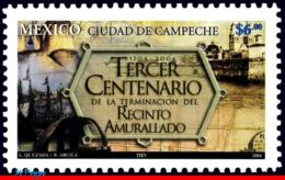 Ref. MX-2379 MEXICO 2004 CITIES, TERM.OF WALLED DISTRICT, OF CAMPECCHE, MI# 3090, MNH 1V Sc# 2379 - Mexique