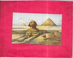 CAIRO - EGYPTE - CPA COLORISEE - The Excavated Sphinx - ROY3 - - Kairo