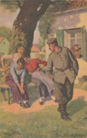 Artist Image 'Der  Blindgänger' 'The Dud' Women Laugh At Soldier, C1900s/10s Vintage Postcard - Humour