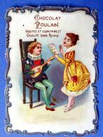 CHROMO CHOCOLAT POULAIN...GAUFRE ...BORDS CHANTOURNES.....MUSICIENS..CHANT ...MANDOLINE - Poulain