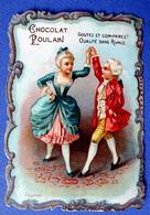 CHROMO CHOCOLAT POULAIN...GAUFRE ...BORDS CHANTOURNES.....COUPLE DE DANSEURS - Poulain