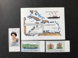 Grenada Grenadines Royal Visit 1985 Mint - Grenada (1974-...)