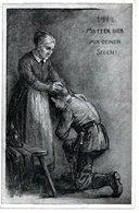 MUTTER GI(E)B MIR DEINEN SEGEN, Kriegskarte 1914, Ed. Ludwig München, Zensurstempel (Bielitz) - Österreich