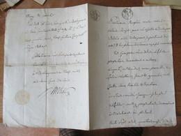 20 MARS 1818 VENTE PAR DESIRE LEFEBVRE DEMEURANT A AULNOY A ANDRE JACQUES DELFOSSE DEMEURANT A BASCHANT TERRE LABOURABLE - Manuscrits