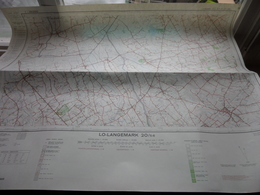 LO-LANGEMARK () Anno IGMB 1968 - Schaal / Echelle / Scale 1: 25.000 ( Edit. 1 - M834 20/5-6 ) Zwarte Bol ! - Mapas Geográficas