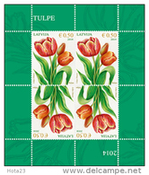 Latvia 2014 TULIP  Flower STAMP MINI SHEET  MNH - Lettonie