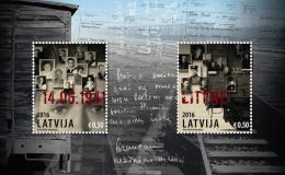Lettland Lettonie Latvia 2016 Russia Communist VICTIMS Deportation 1941 S/S  MNH - Lettonie