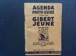 GIBERT JEUNE  Agenda Photo-Guide  ANNÉE 1952  Agenda Vierge - Livres, BD, Revues