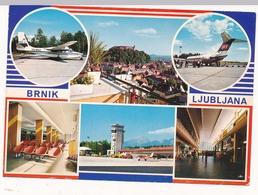 AIRPORT BRNIK LJUBLJANA, Slovenia, Vintage Old Postcard - Slovenia