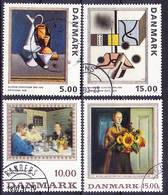 2019-0193 Denmark 1993, 1996 Complete Sets Art Mi 1068-1069 And 1139-1140 Used O - Dänemark