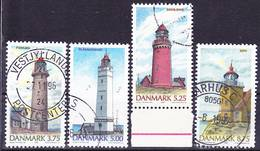 2019-0196 Denmark 1996 Lighthouses Complete Set Mi 1132-1135 Used O - Dänemark