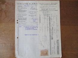 CAMBRAI BOCQUILLON GRAND GARAGE MODERNE AGENCE DELAHAYE PEUGEOT ZEDEL 11 RUE LOUIS DELMAS FACTURE ET TRAITE  6 MARS 1924 - 1900 – 1949