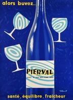 @@@ MAGNET - Alors Buvez Pierval. Source De Pont-Saint-Pierre (Eure). Santé, équilibre, Fraîcheur, Villemot - Publicitaires