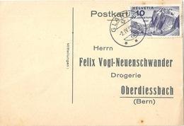 Bestellkarte  Glarus - Oberdiessbach          1932 - Svizzera