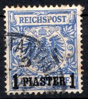 LEVANT - (Bureaux Allemands) - 1889 - N° 8 - 1 Pi. S. 20 P. Bleu - Turkish Empire