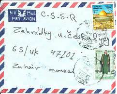 Iraq Air Mail Cover Sent To Czechoslovakia (one Of The Stamps Is Damaged) - Iraq