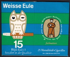 Germany / Weisse Eule Cigarillos / Karton, Paper Box/ Advertising Gebruder Schaefer Cigarren - Tobacco (related)