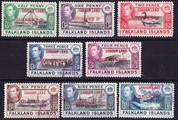 Falkland Islands Dependencies 1944 Graham Land Complete Set Mi/SG A1-A8 Used O - Falkland Islands