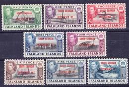 Falkland Islands Dependencies 1944 South Georgia Complete Set Mi/SG B1-B8 Used O - Falkland Islands