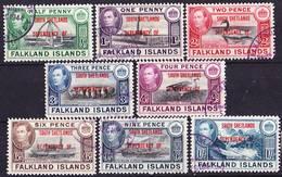 Falkland Islands Dependencies 1944 South Shetlands Complete Set Mi/SG D1-D8 Used O - Falkland Islands