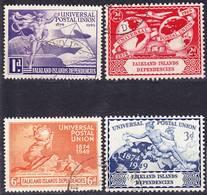 Falkland Islands Dependencies 1949 UPU 75 Years Complete Set Mi 14-17; SG G21-24 Used O - Islas Malvinas