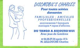 Discmobil's Charles  Pour Toutes Soirées Dansantes   Du Tango à Aujourd'hui  Avec Jeux De Lumières . - Visitenkarten