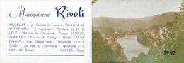 Petit Calendrier 1952. Dinant. Maroquinerie. Bruxelles Antwerpen, Liège, Charleroi, Ciney, Lier. Meuse à Profondeville - Calendriers