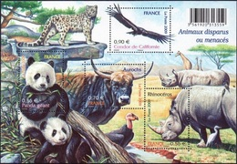 FRANCE Bloc  128 ** MNH Nature Rhinocéros Auroch Panda Géant Condor Californie - Mint/Hinged